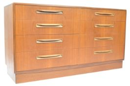 VICTOR B WILKINS FOR G-PLAN TEAK FRESCO DOUBLE CHEST OF DRAWERS