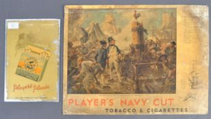 TWO VINTAGE PLAYERS CIGARETTES SHOP ADVERTISING SIGNS