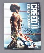 """ROCKY - CREED II - CAST SIGNED 14X11"""" PHOTOGRAPH P"""