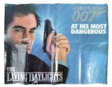 JAMES BOND THE LIVING DAYLIGHTS 1987 - UK QUAD POS