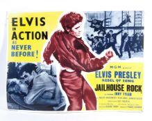 ELVIS PRESLEY - JAILHOUSE ROCK - VINTAGE CARD POST