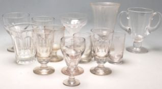 Aa collection of late 19th century and 20th century Victorian cut glass drinking glasses to