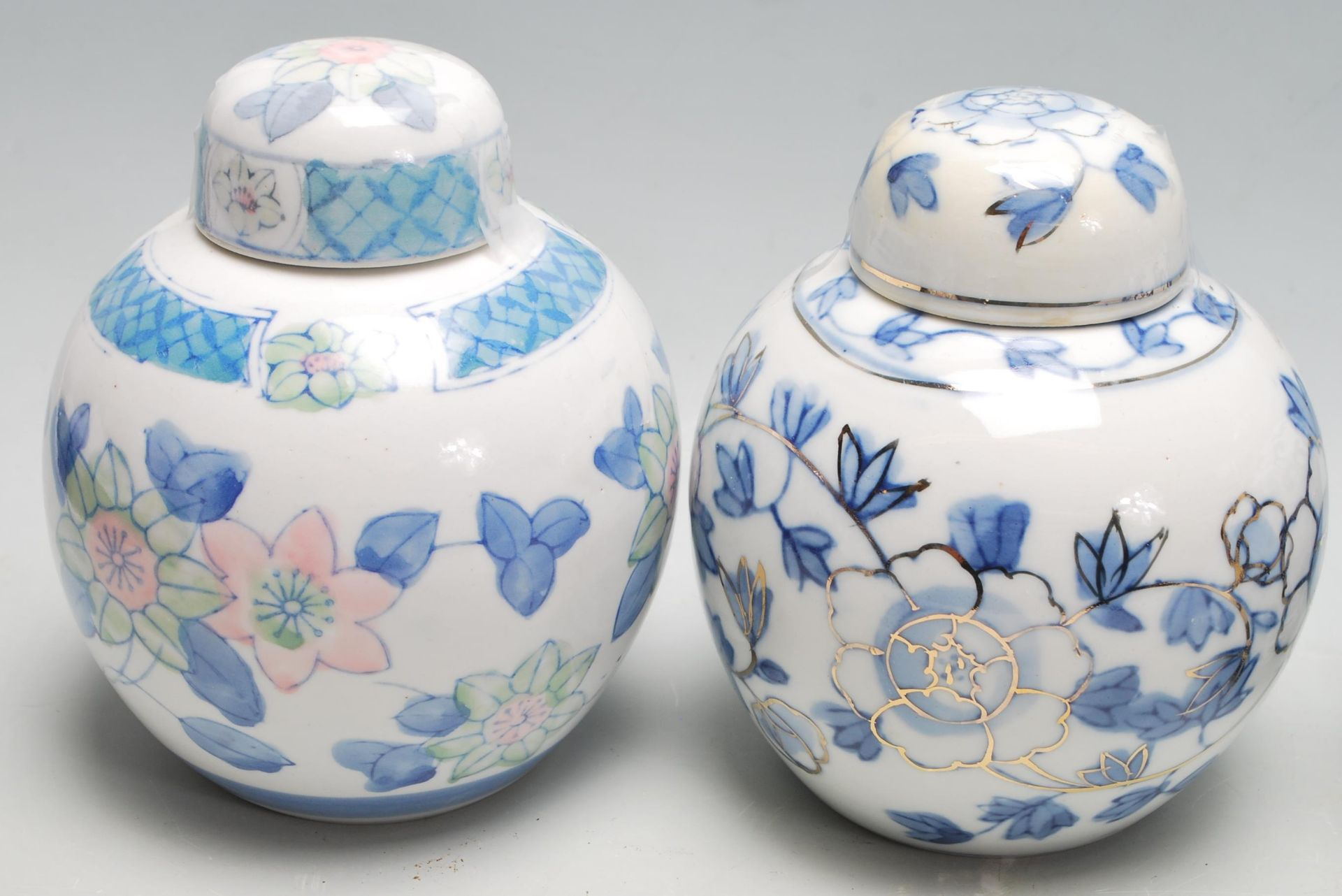 Los 82 - A collection of 20th Century Chinese ginger jars of various styles and forms to include some printed