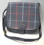 A vintage Burberry blue Nova check handbag / shoulder bag with a blue leather shoulder strap,
