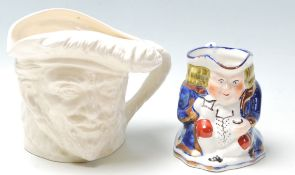 A rare 20th century Royal Doulton Sir Francis Drake large white glazed character jug being stamped