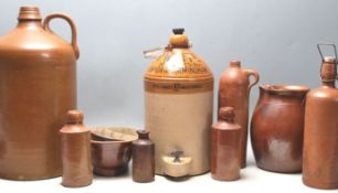 A good quantity of 19th century Victorian stoneware jugs and bottles