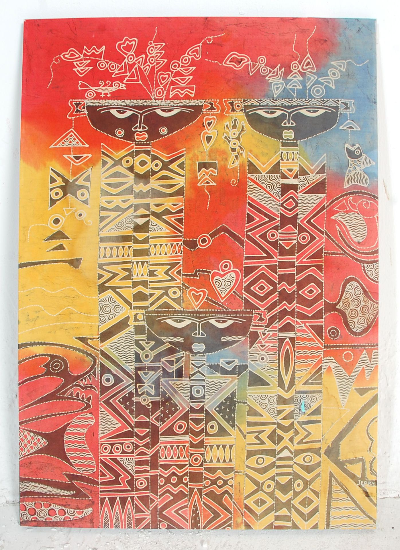 Los 1088 - A mid 20th Century African Tribal dyed fabric prin
