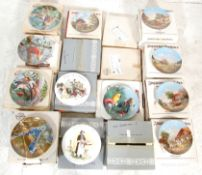 "A large collection of vintage collectors plates to include 10 plates of ""Idyllic Village Life"" by"