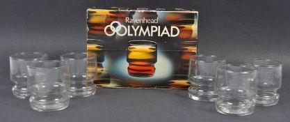 RAVENHEAD ENGLAND - SET OF 6 OLYMPIAD PATTERN DRINKING TUMBLERS