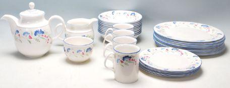 A good Royal Doulton English china Windermere part tea/dining set comprising of teapot, dining