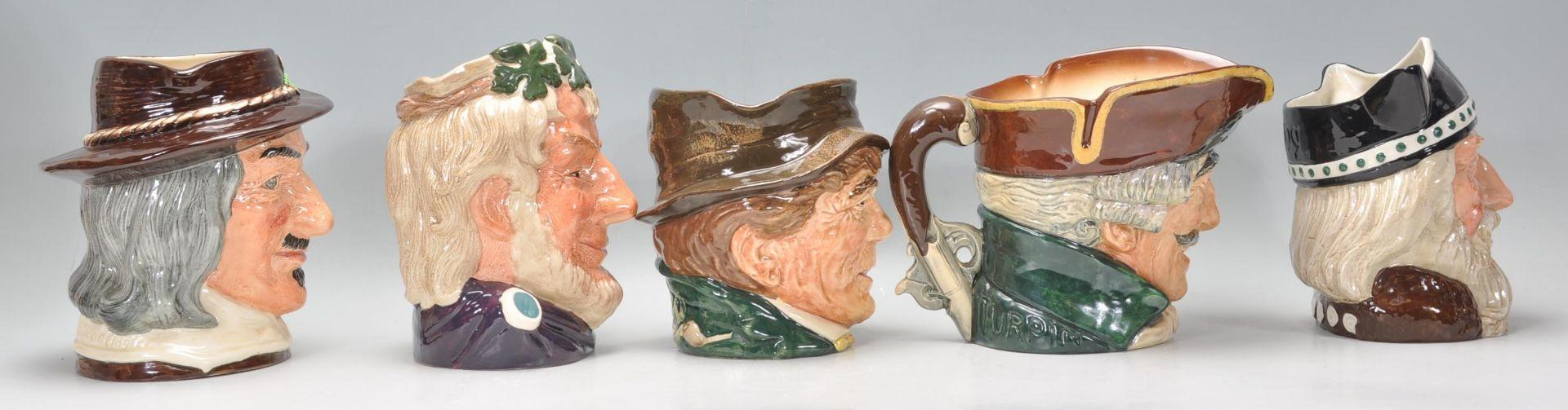 Los 10 - A group of five Royal Doulton ceramic Character /