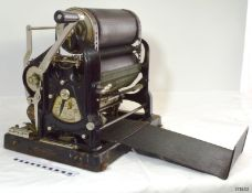 A vintage early to mid 20th century Gestetner duplicating printing machine / printer retaining its