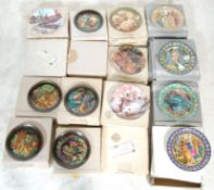 A large collection of limited edition vintage collectors plates to include, 7 Wedgwood Excalibur