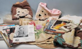 A collection of vintage 20th Century needlework / sewing related items to include a collection of
