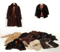 A large quantity of retro vintage 1950s fur coats to include  beaver fur coat by Victor Segel, a