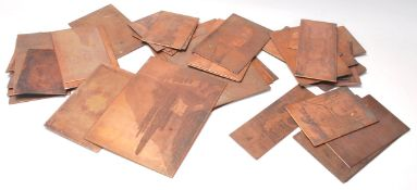 A good mixed group of 19th Century / Victorian copper printing plates to include multiple village