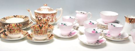 Two vintage retro English china tea sets to include a Park Place china Imari pattern tea set