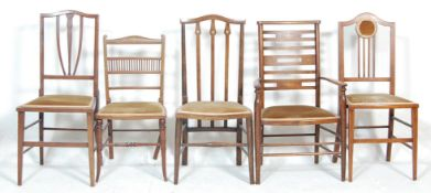 A group of 19th and early 20th Century Victorian / Edwardian hall chairs to include a Regency