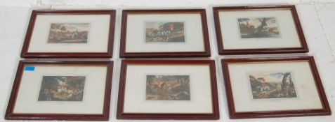 After Samuel Howitt - A series of six early 19th Century Georgian hunting related engravings /