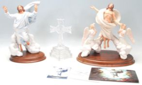 The Transfiguration by Franklin Mint hand painted fine porcelain ceramic figurine depicting Christ