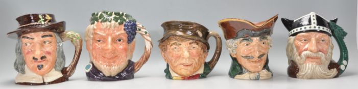 A group of five Royal Doulton ceramic Character /