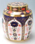 A large Royal Crown Derby bone china Old Imari pat
