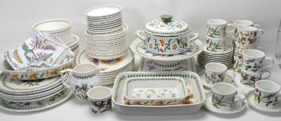 A large Collection of 20th century Portmeirion botanic garden tea set/dining service to include 13