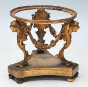 A 19th Century Victorian Brass Ormolu vase stand decorated with goddesses, swags and acanthus leaves