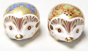 A pair of Royal Crown Derby Paperweights to include Bluebell and Ivy both in the form of