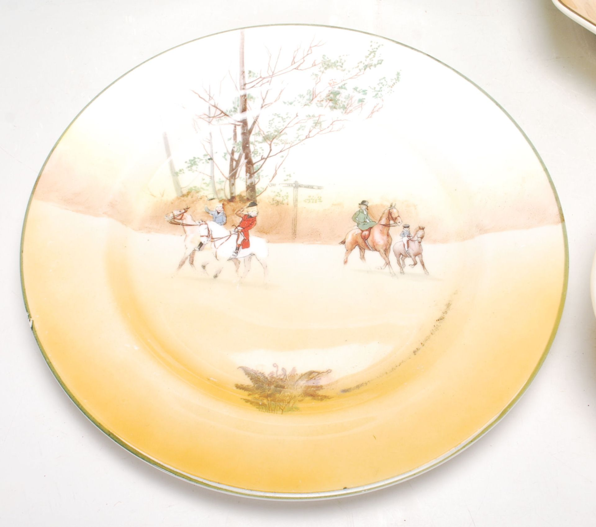 Los 26 - A group of Royal Doulton china series ware to include an Under the Greenwood tree jug, The Fat Boy