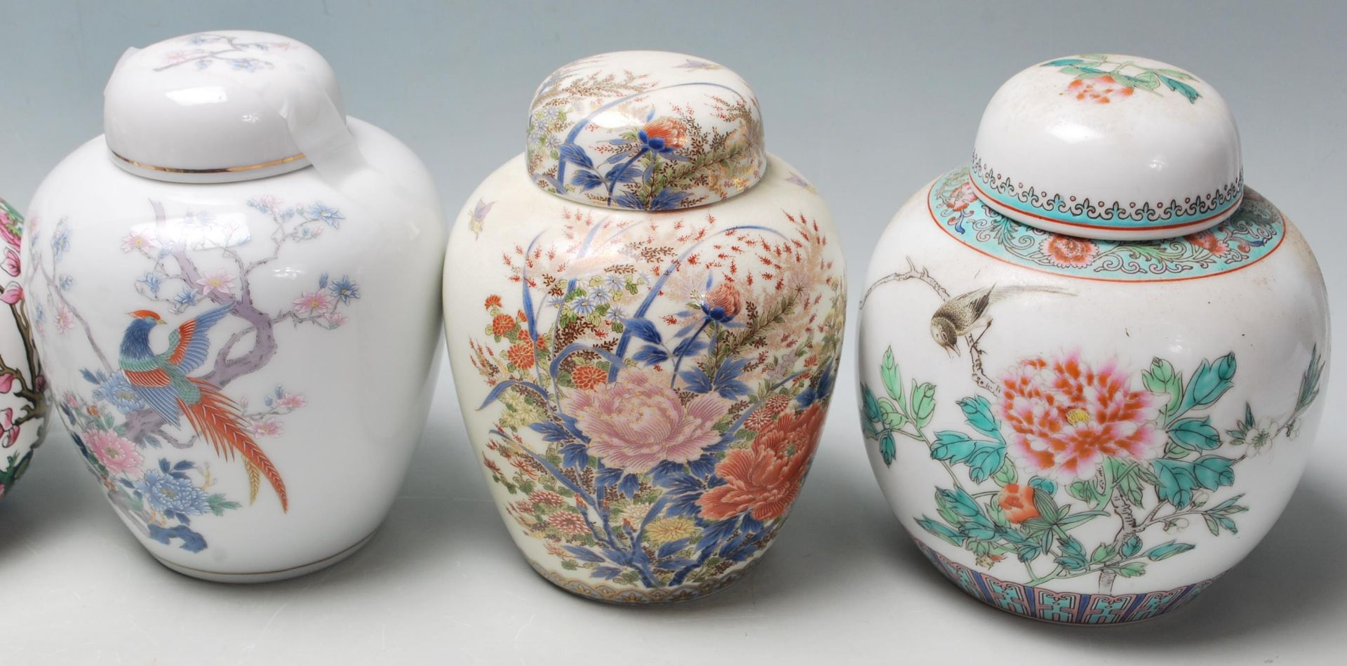 Los 71 - A collection of 20th Century Chinese ginger jars to include various different styles including a