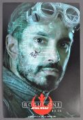 STAR WARS - RIZ AHMED - BODHI ROOK - SIGNED PHOTOGRAPH