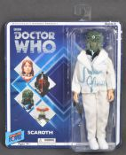 DOCTOR WHO - JULIAN GLOVER AUTOGRAPHED SCAROTH ACTION FIGURE