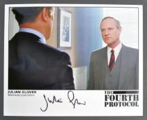 THE FOURTH PROTOCOL - JULIAN GLOVER SIGNED PHOTOGRAPH