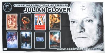 JULIAN GLOVER'S ORIGINAL AUTOGRAPHED CONVENTION BANNER