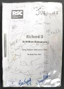 JULIAN GLOVER'S SCRIPT FROM RSC PRODUCTION RICHARD II