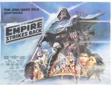 STAR WARS THE EMPIRE STRIKES BACK ORIGINAL UK QUAD POSTER