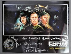 STAR WARS EMPIRE STRIKES BACK PHOTOGRAPH TO JULIAN GLOVER