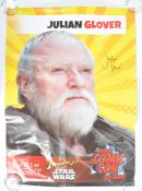 JULIAN GLOVER - GERMAN COMIC CON - GAME OF THRONES POSTER