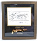 INDIANA JONES & LAST CRUSADE ORIGINAL PRODUCTION USED STORYBOARDS