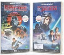 STAR WARS - DAVE PROWSE AUTOGRAPHED VHS COVERS