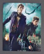 HARRY POTTER - JAMES & OLIVER PHELPS DUAL SIGNED PHOTOGRAPH