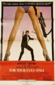 JAMES BOND FOR YOUR EYES ONLY - US ONE SHEET POSTER