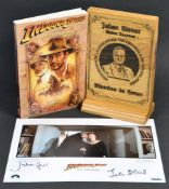 INDIANA JONES - BOOK & PLAQUE PRESENTED TO JULIAN GLOVER