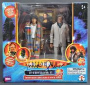 JULIAN GLOVER DOCTOR WHO - AUTOGRAPHED ACTION FIGURE SET