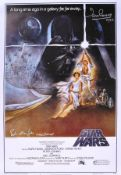 STAR WARS - PETER MAYHEW & DAVE PROWSE SIGNED POSTER