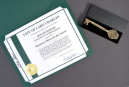 JULIAN GLOVER'S LAKE CHARLES CITIZEN AWARD & KEY TO CITY
