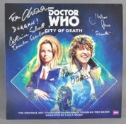 INCREDIBLE DOCTOR WHO CITY OF DEATH MULTI-SIGNED LP