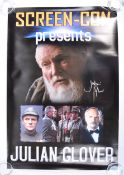 JULIAN GLOVER - SCREEN CON - AUTOGRAPHED EVENTS POSTER