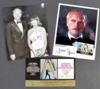 JAMES BOND - JULIAN GLOVER'S PERSONAL TICKET TO THE PREMIERE